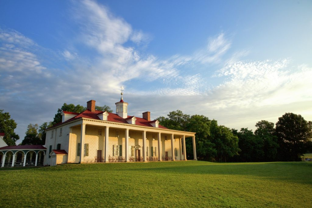 Mount Vernon's back lawn is often the site of special festivals and events.