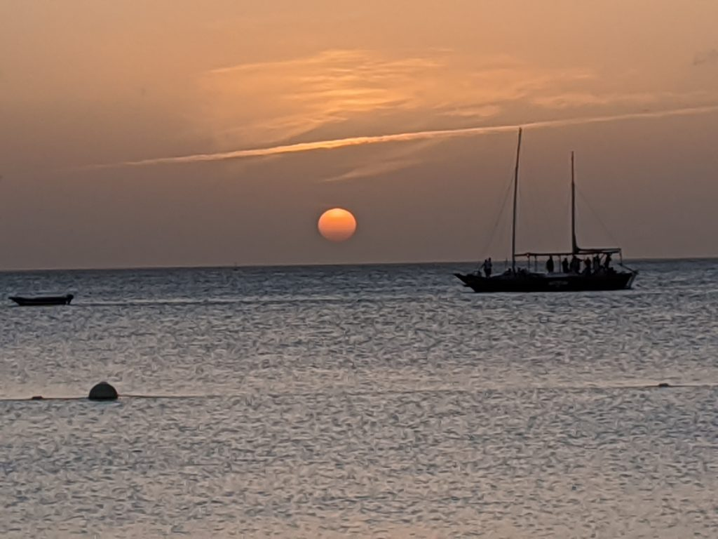 An Aruba sunset from the California Lighthouse on the north coast.