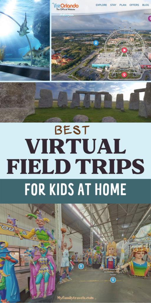 Photo montage of great virtual field trips and tours for spring