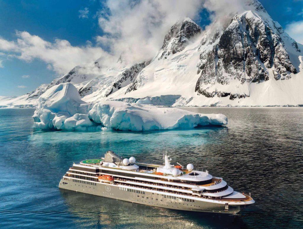 The World Navigator expedition ship exploring Antarctica.