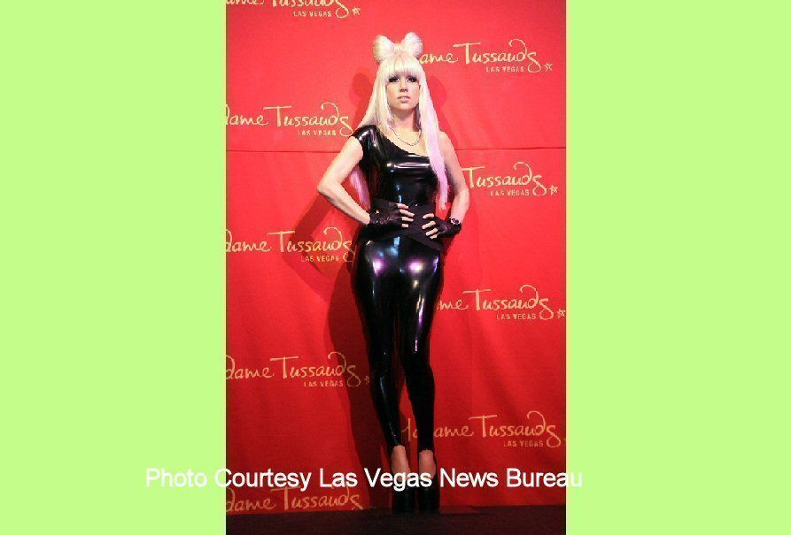 The Las Vegas Lady Gaga wax figure wears the Mini Mouse outfit (AP Photo/Las Vegas News Bureau, Darrin Bush)