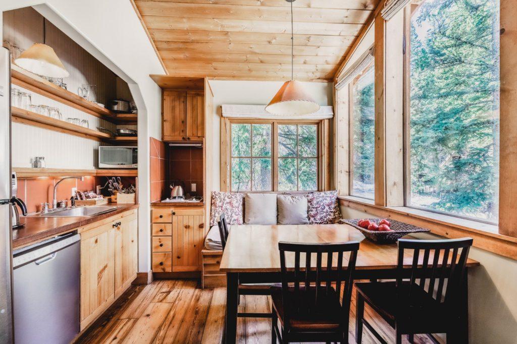 Kitchen of a Sundance Mountain Resort family suite sleeping four.
