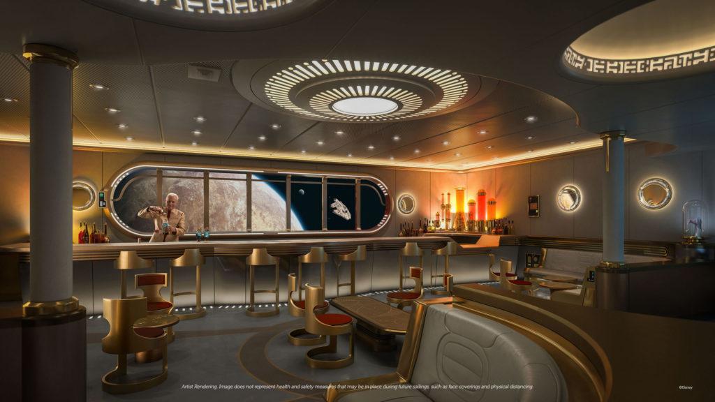 Disney Wish rendering of Hyperspace Lounge. c. Disney Parks