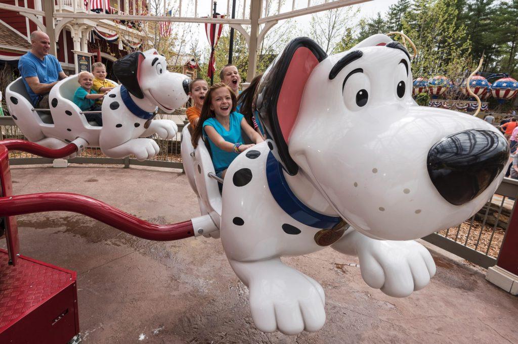 Snoopy themed ride at Silver Dollar City, Branson MI