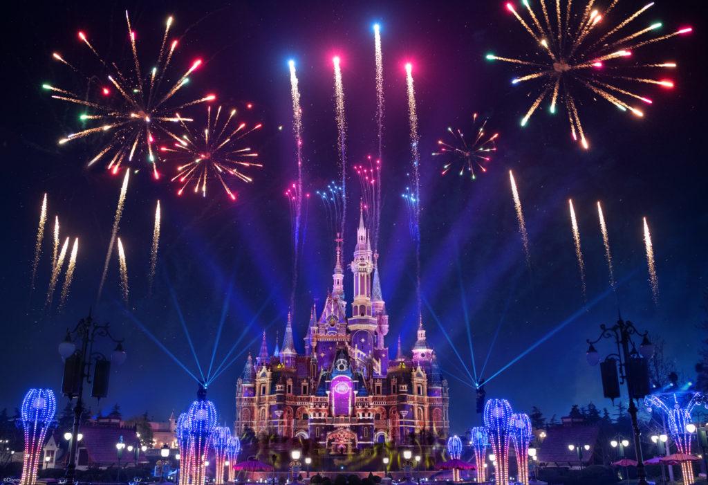Shanghai Disneyland's Magic Castle with new light show.