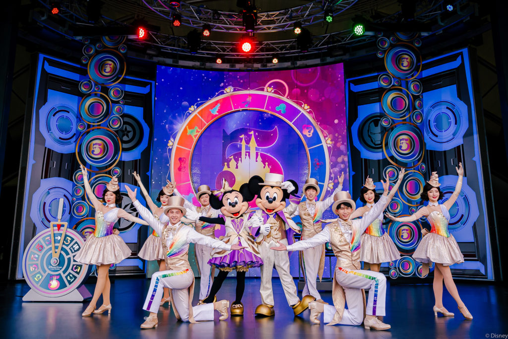 Shanghai Disneyland's new show of characters is performed for the fith anniversary of the resort.