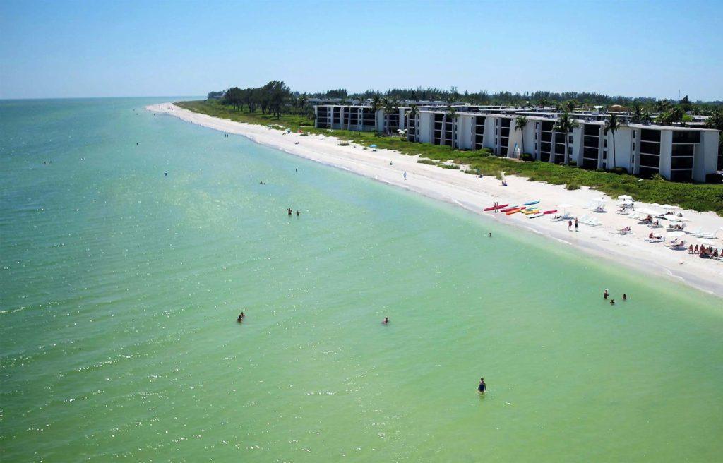 Aerial view of Sundial Beach Resort, Sanibel Island, Florida