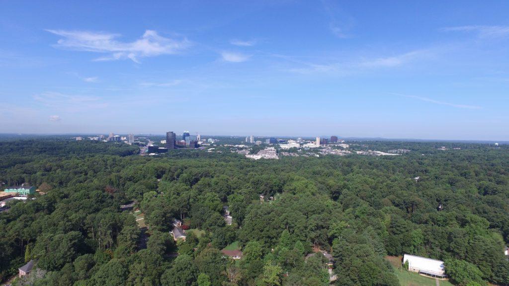 Aerial view of Dunwoody, Georgia