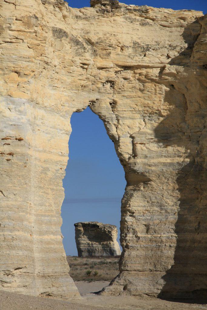 Monument Rocks in Kansas.