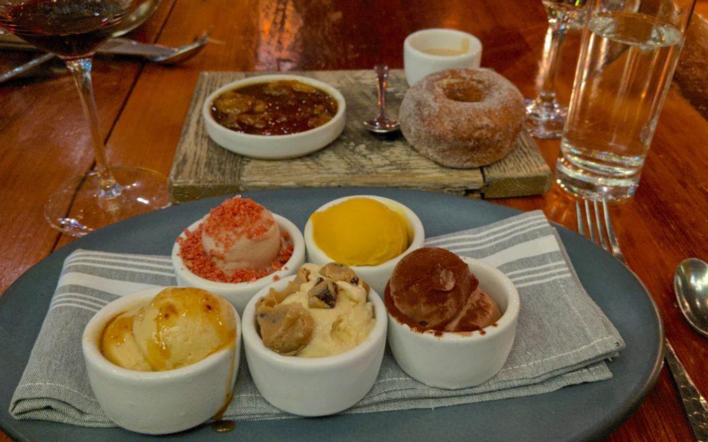 Desserts at Bardea in Wilmington, Delaware.