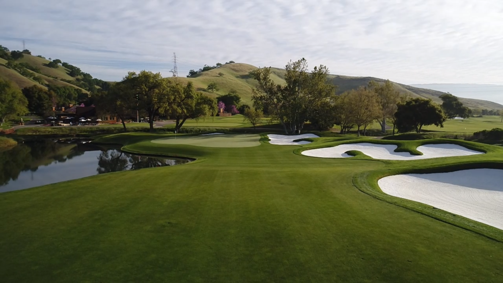 18th hole at CordeValle Resort in California