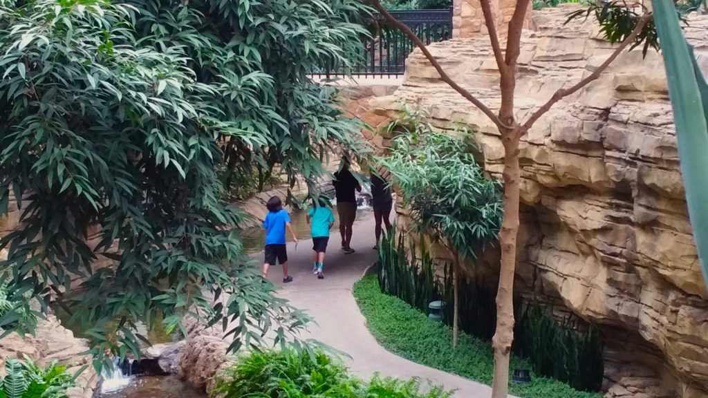 The Riverwalk section of the Gaylord Texas interior.