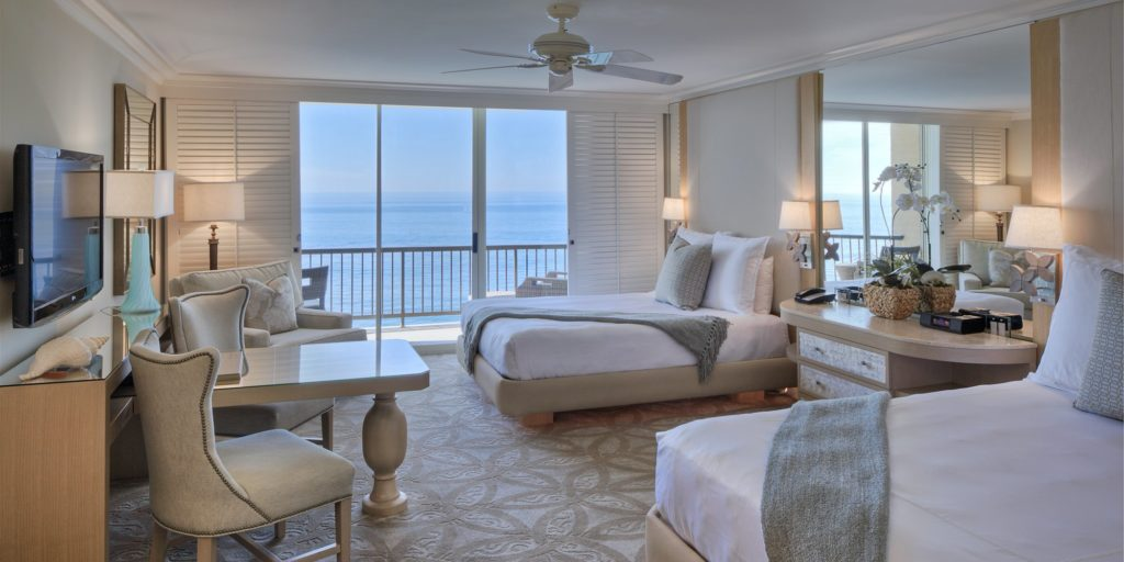 hotel room at Surf & Sand Resort in Laguna Beach, California