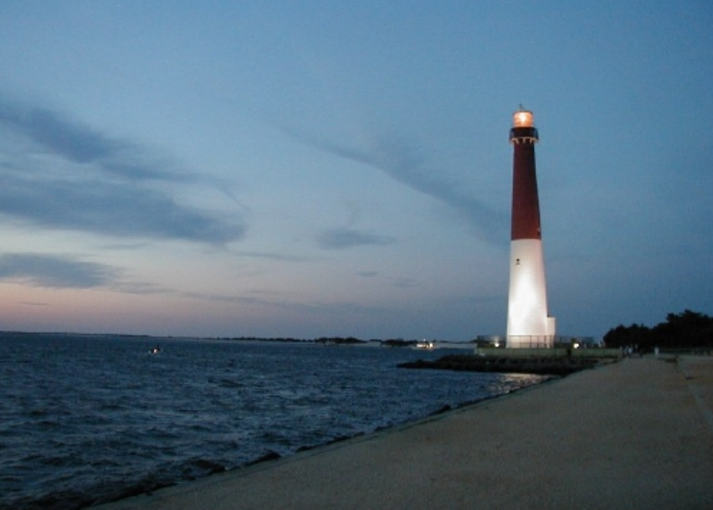Barnegat Lighthouse off the Jersey Shore at Island Beach State Park