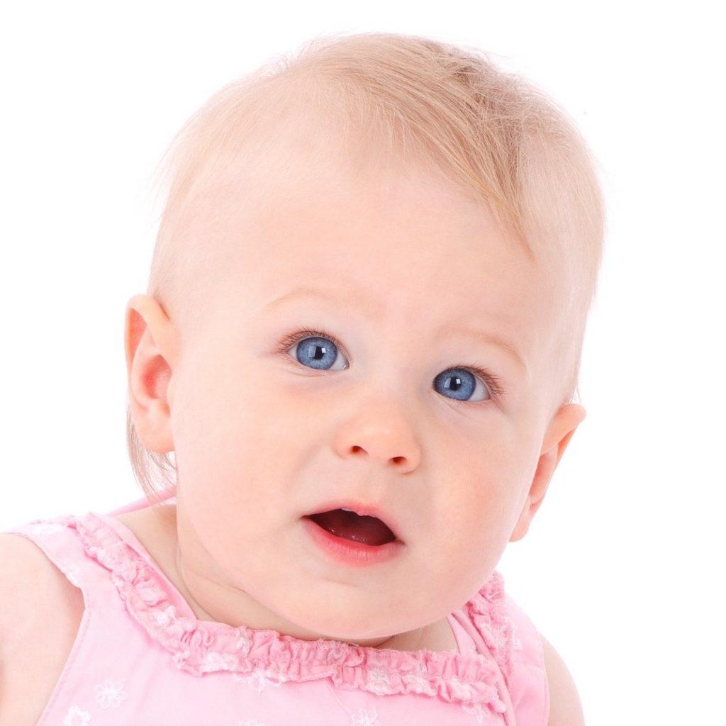 Baby girl passport photo