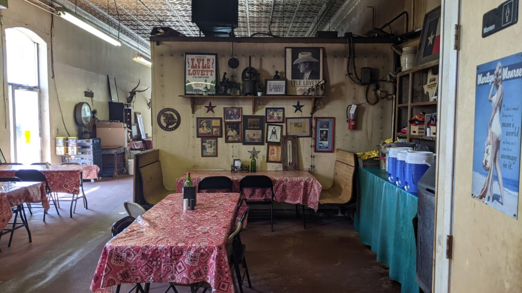 City Meat Market dining room, Giddings, Texas