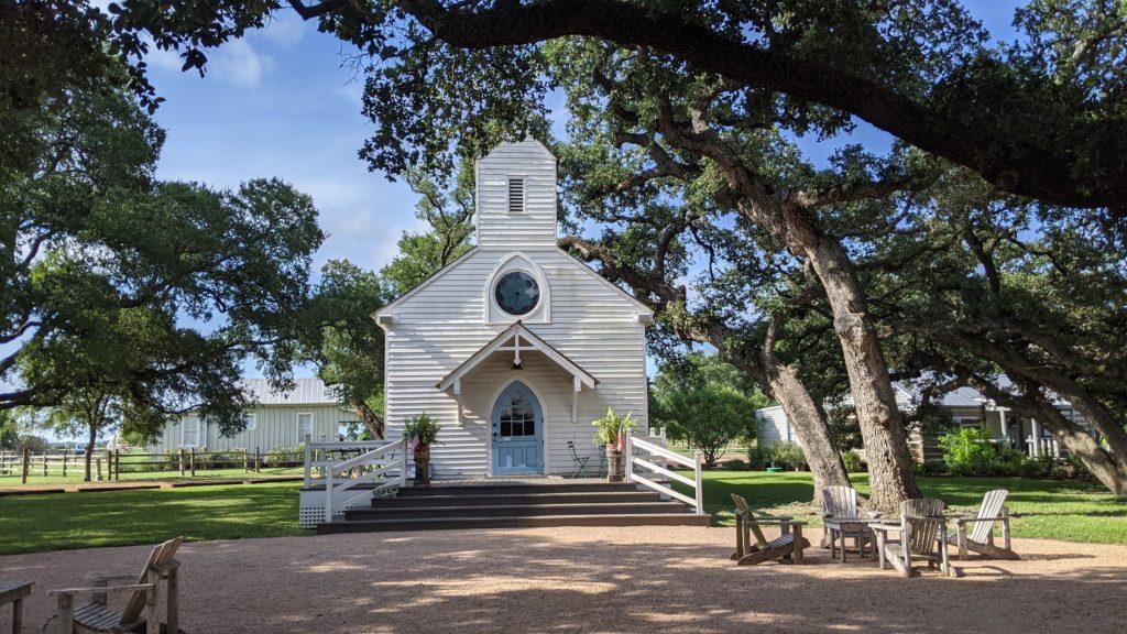 Tiny church in Henkel Sqaure, Round Top, Texas