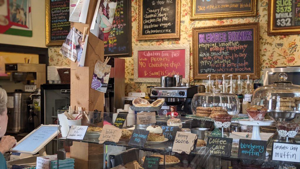 Royer's Pie Heaven display of pies