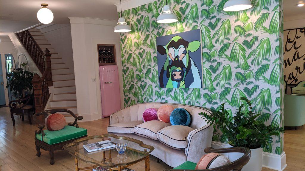 Living room of The Frenchie Inn