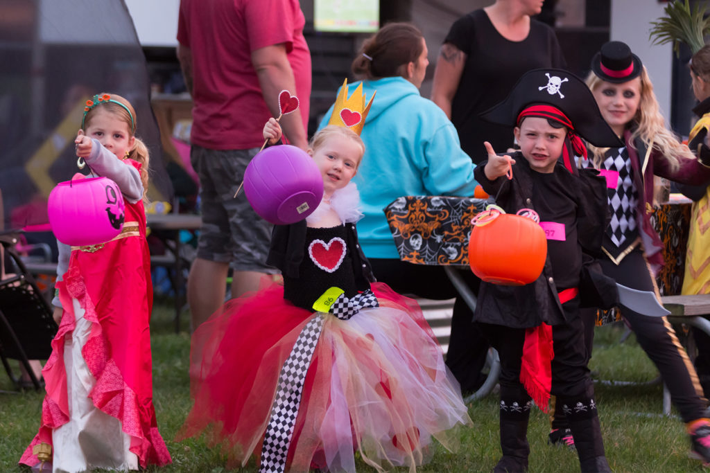 Kids in costume participate in Jellystone Parks Halloween costume contest