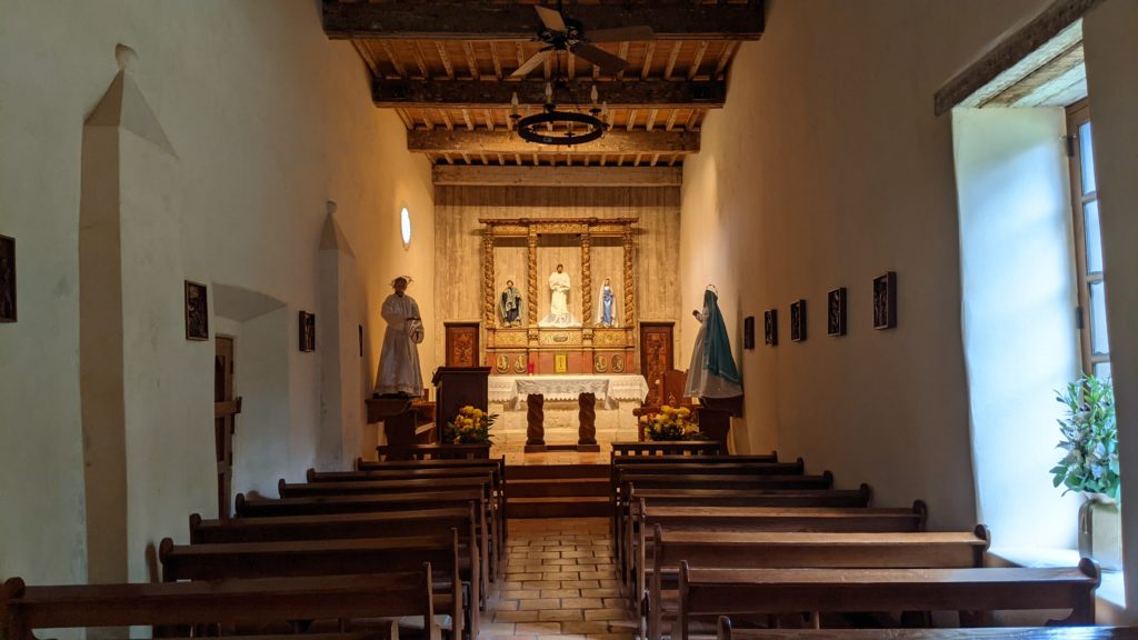Simple chapel at the Mission San Juan, a UNESCO World Heritage Site in San Antonio.