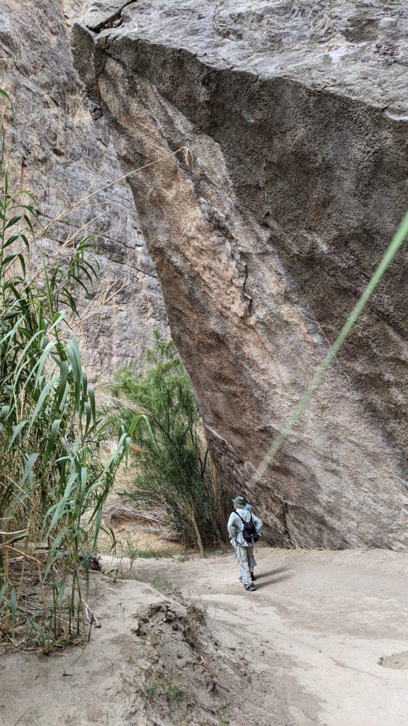 Hking through Santa Elena Canyon in Big Bend National Park, Texas