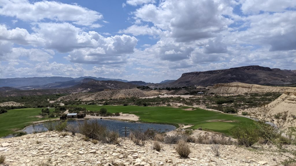 The Black Jack's Crossing golf course at Lajitas Resort, Texas