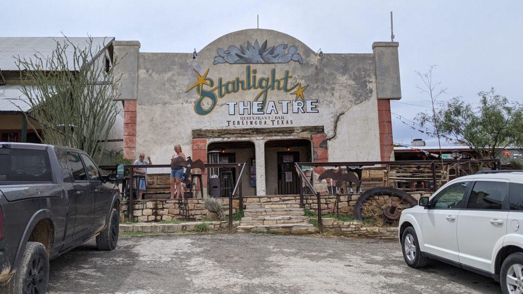 The vintage Starlight Theatre restaurant in Terlingua, Texas.