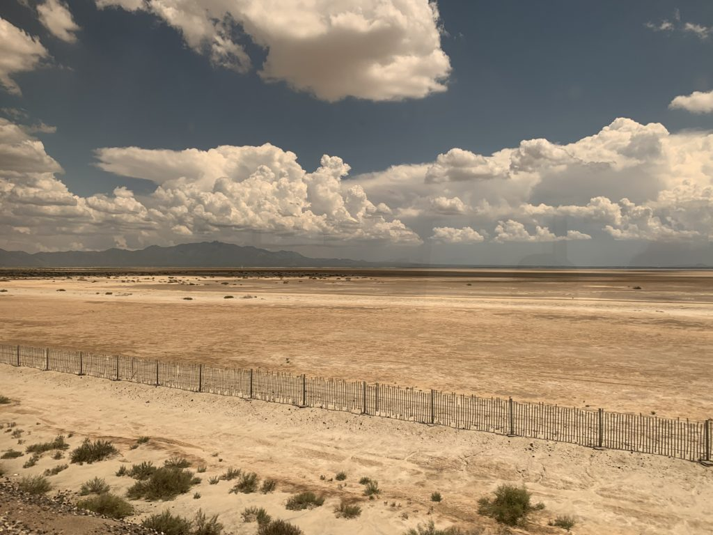 Arizona blue sky and red desert are viewed best from the Sunset Limited train.