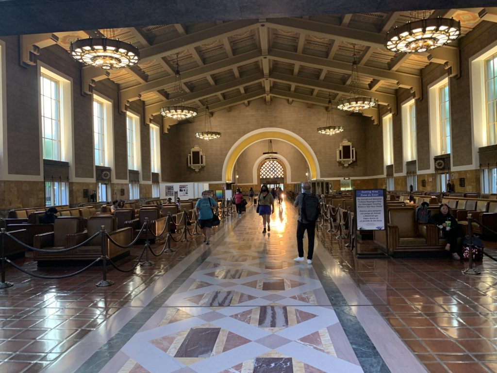 Los Angeles Union Station is a true transportation center.