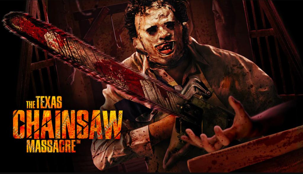 Texas Chainsaw Massacre poster for Universal's Halloween Horror Nights event. Photo c. Universal Resorts.