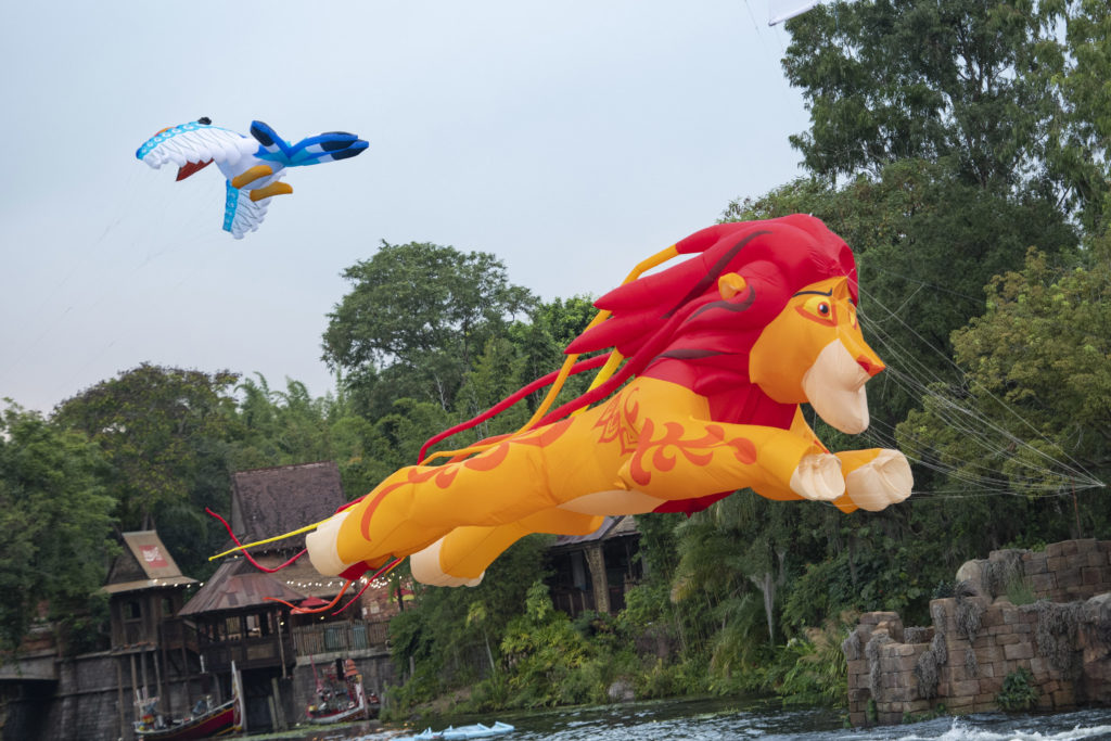 """Visit Animal Kingdom theme park to catch """"Disney KiteTails,"""" when performers fly windcatchers and kites of all shapes and sizes. (David Roark, photographer)"""