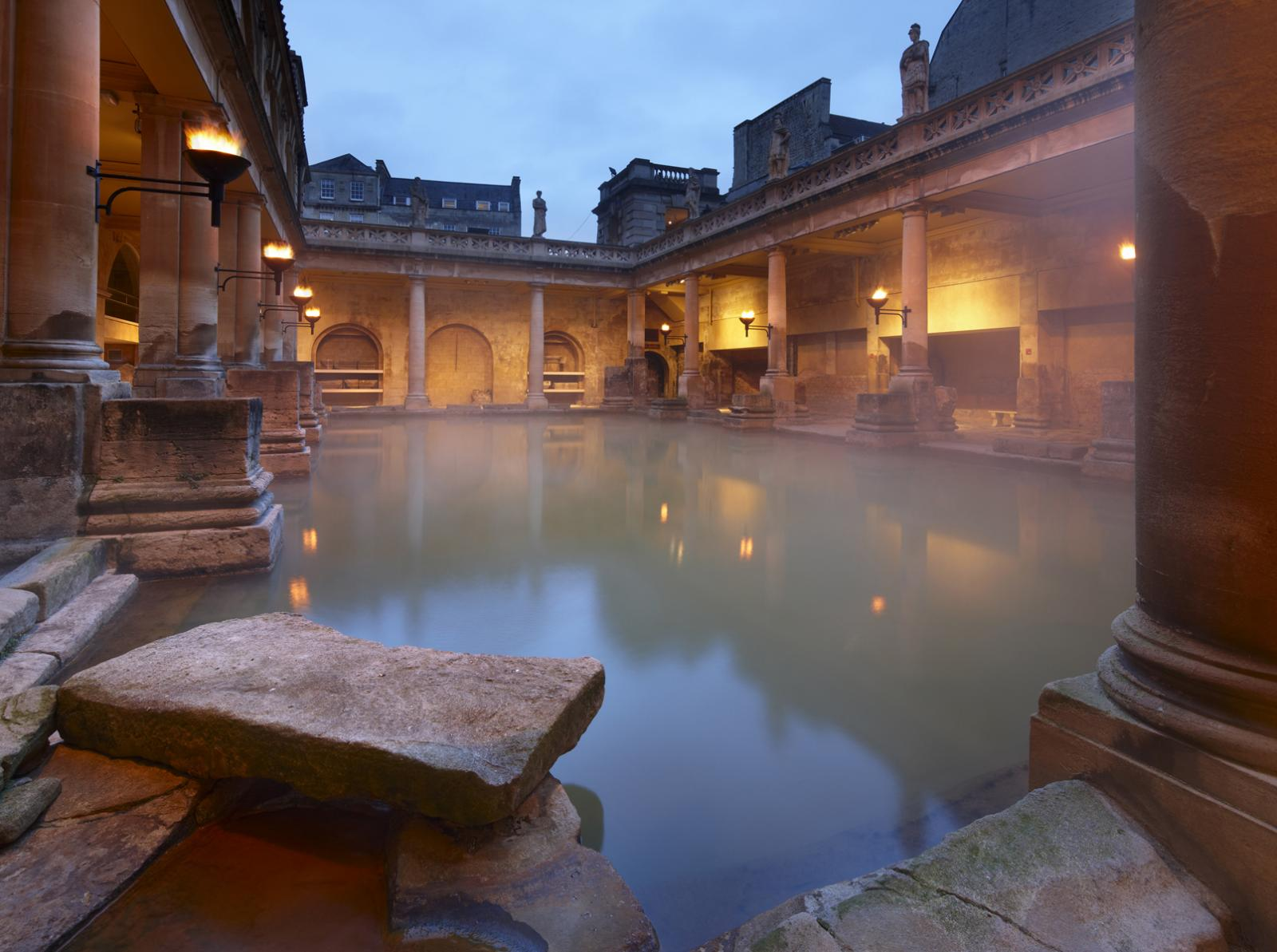 Taking The Waters In Bath England