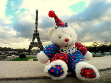 My bear in Paris, France