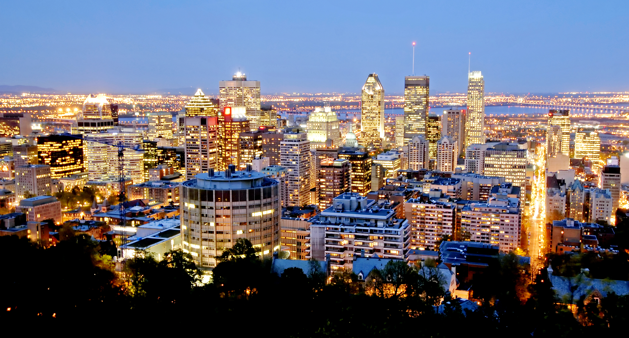 Downtown Montreal Seen From Parc Mont Real