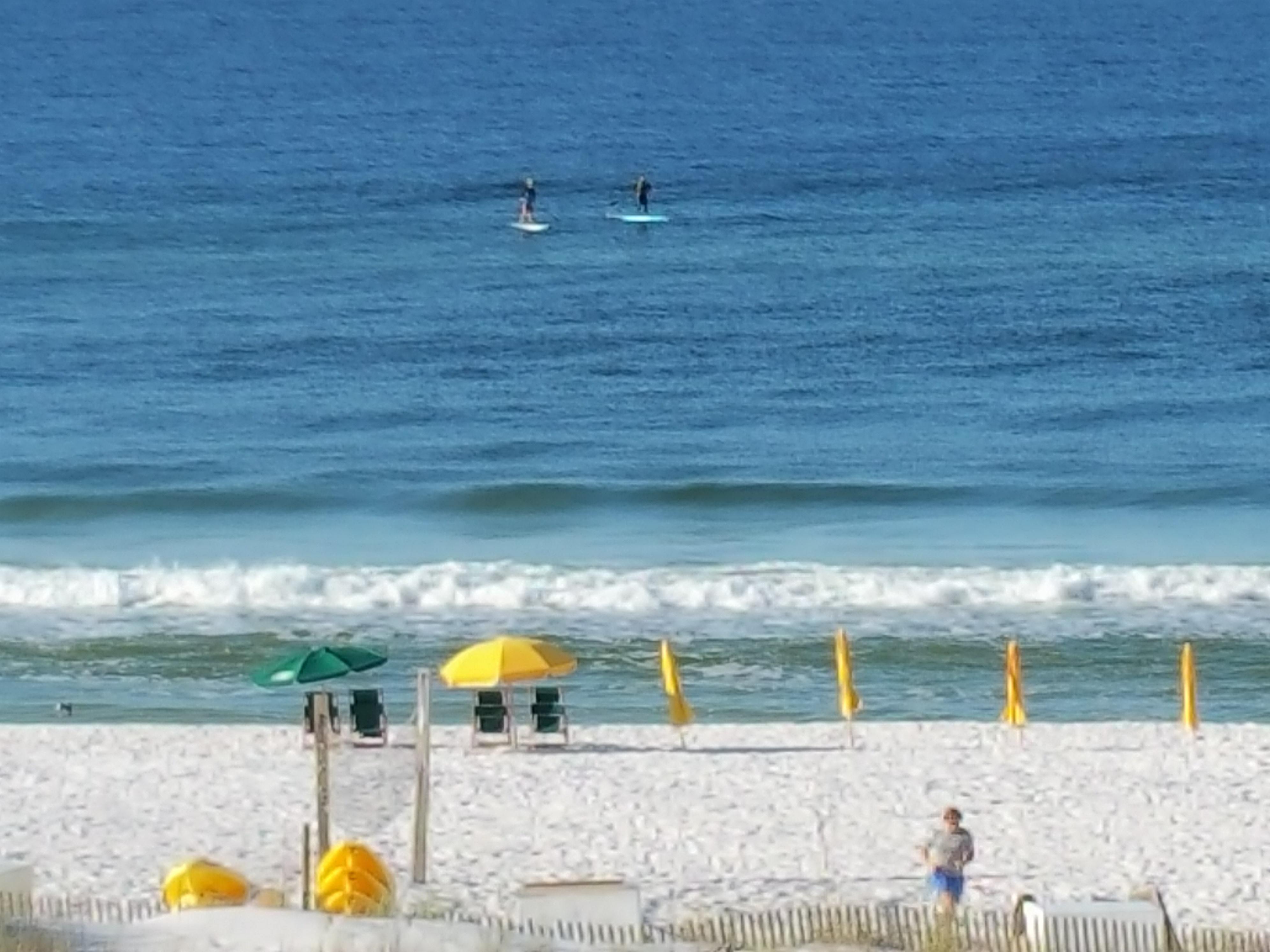 Standup Paddleboarders At Miramar Beach Seen From Hilton Sandestin Room