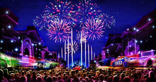The new Together Forver Fireworks show opens in April at Disneyland; courtesy Disney.