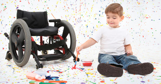 Child with disabilities; photo courtesy everystepadoption.com