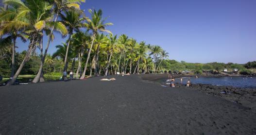 Black Sand Beach on the Big Island