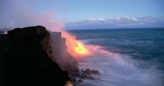 Lava Meets the Sea on the Big Island