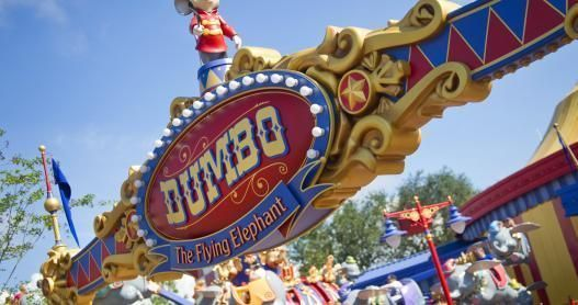 The famous Dumbo ride at New Fantasyland, Walt Disney World's Magic Kingdom.