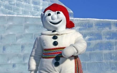 Bonhomme is the mascot of Carnaval, an annual Montreal festival.