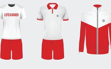 Royal Caribbean lifeguard uniforms.