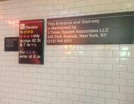 One of the Many Subway Signs