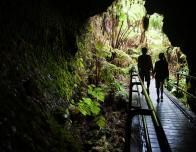 Walking Through a Lava Tube, Big Island, Hawaii