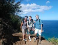 Kit Bernardi and Family, Kalalau Trail Hike, Napali Coast