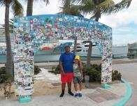 My little brother and I arriving in paradise!