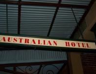 Sign above Entryway to the Historic Australian Hotel in Sydney