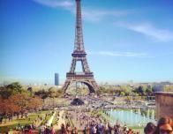 View of the Eiffel Tower on a Sunny Spring Day in Paris