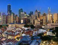 Amazing Singapore skyline; photo by Someformofhuman, courtesy Wikimedia